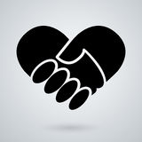 Handshake icon. background for business and finance Stock Images