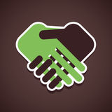 Handshake icon. Handshake concept icon stock Royalty Free Stock Photo