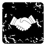 Handshake icon, grunge style Royalty Free Stock Photos