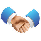 Handshake. Icon, isolated on white background, vector illustration Stock Photography
