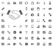 Handshake icon. Media, Music and Communication vector illustration icon set. Set of universal icons. Set of 64 icons.  Royalty Free Illustration