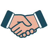 Handshake icon Royalty Free Stock Image