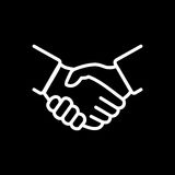 Handshake icon simple vector illustration. Deal or partner agree Stock Images