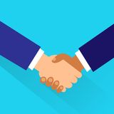 Handshake icon vector business hands shake flat Royalty Free Stock Image
