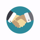 Handshake icon royalty free stock photography
