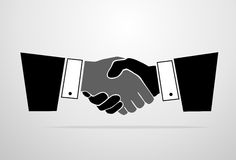 Handshake icon vector silhouette business hands Stock Photos