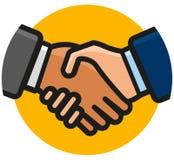Handshake icon on white background vector illustration