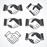 Handshake icons. Business and finance concept.  Stock Image