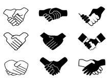 Handshake icons. Isolated handshake icons on white background Stock Image