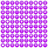 100 handshake icons set purple. 100 handshake icons set in purple circle isolated vector illustration stock illustration