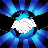 Handshake illustration royalty free stock photography
