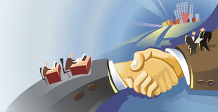 Handshake Illustration Royalty Free Stock Photos