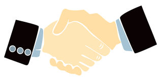 Handshake illustration Stock Image