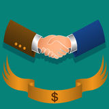 Handshake. Illustration of a business male handshake. EPS file available Royalty Free Stock Photos