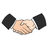 Handshake. Illustrator of handshake, meeting Business Royalty Free Stock Photo