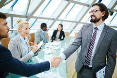 Handshake after introduction Royalty Free Stock Image