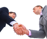Handshake isolated Royalty Free Stock Photos