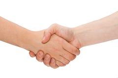 Handshake isolated. Royalty Free Stock Image