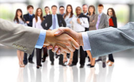 Handshake isolated on business royalty free stock images