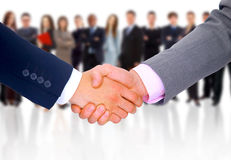 Handshake isolated on business Stock Image