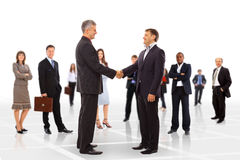 Handshake isolated on business Stock Photo