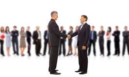 Handshake isolated on business Stock Photos