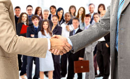 Handshake isolated on business Royalty Free Stock Image