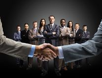 Handshake isolated on business Royalty Free Stock Photo