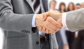 Handshake isolated on business Stock Photos