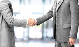 Handshake isolated on business Stock Images