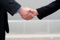 Handshake isolated on business background Stock Photography