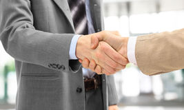 Handshake isolated in office royalty free stock image