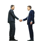 Handshake isolated over white Royalty Free Stock Images