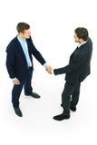 Handshake isolated over white Stock Image