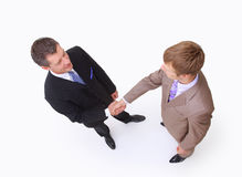 Handshake isolated on white Stock Image