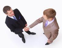 Handshake isolated on white Royalty Free Stock Photo