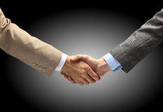 Handshake isolated on white Royalty Free Stock Images