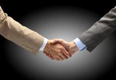 Handshake isolated on white Royalty Free Stock Images