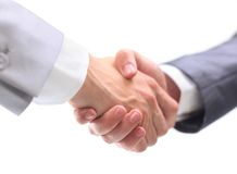 Handshake isolated on white Stock Photography