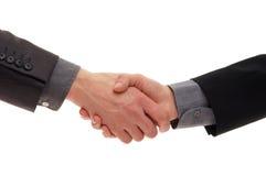 Handshake isolated on white background Stock Photography