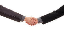 Handshake isolated on a white background Royalty Free Stock Images