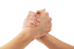 Handshake isolated on a white background Royalty Free Stock Image