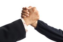 Handshake isolated on white background Royalty Free Stock Images