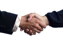 Handshake isolated on white background Stock Images