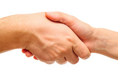 Handshake isolated on white Royalty Free Stock Photos