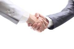 Handshake isolated on white  background Stock Images