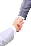 Handshake isolated on white  background Royalty Free Stock Image