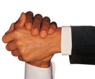 Handshake isolated on white royalty free stock photography