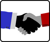 Handshake isolated on white background Royalty Free Stock Photography