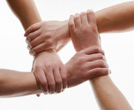 Handshake isolated on white Stock Photography
